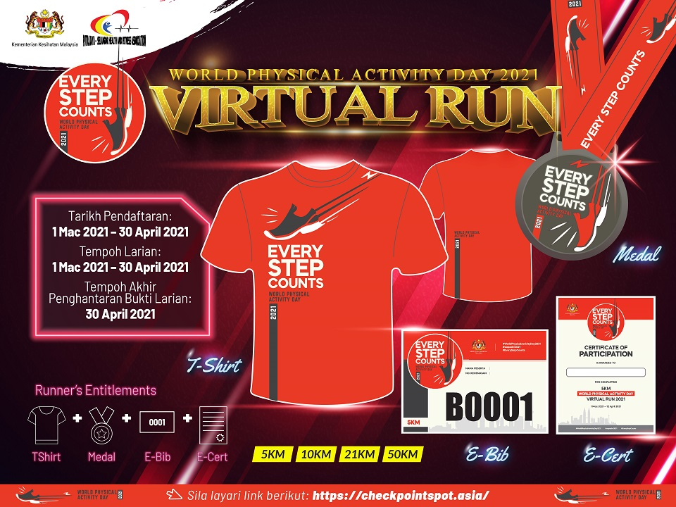 World Physical Activity Day 2021 Virtual Run
